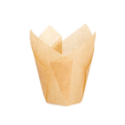 PacknWood Tulip Golden Brown Silicone-Coated Paper Baking Cup, 1.25-Ounce Capacity, 1.1-Inch Diameter x 2.5-Inch High (Case of 1000) 209CPST1M