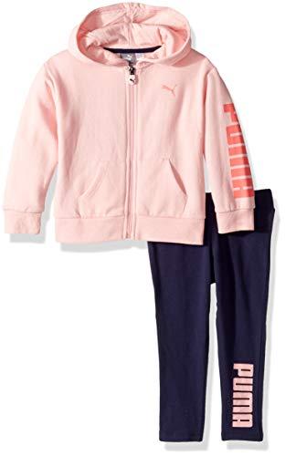 PUMA Toddler Girls' Fleece Hoodie Set, Crystal Rose, 2T