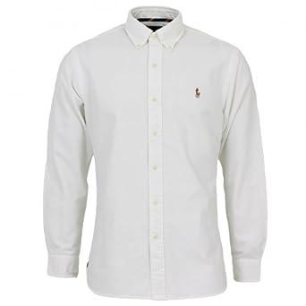 Polo Ralph Lauren coloured logo button down oxford shirt White XXL ...