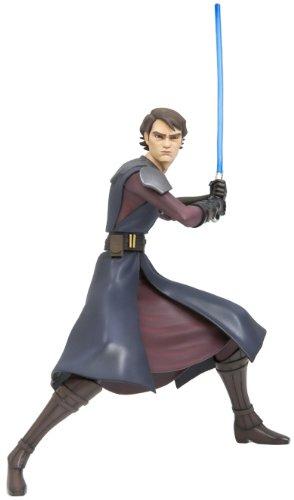 (Star Wars The Clone Wars Kotobukiya ARTFX PrePainted Vinyl Statue Series 1 Jedi Anakin Skywalker)
