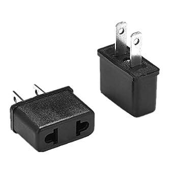 5Pcs EU Euro Europe to US USA AC Power Plug Travel Converter Adapter Charger /_7