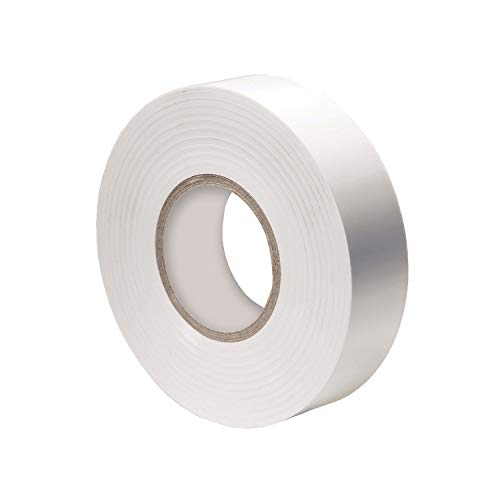 Vinyl Electrical Tape, 3/4-Inch x 66 Ft Roll, UL Listed, White (1 Pack) ()