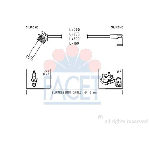 Facet 4.7242 Ignition Leads Kit: