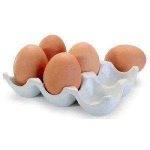 BIA White Porcelain Half Dozen Egg Crate