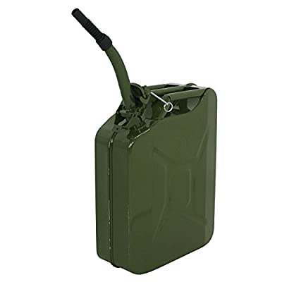 Clever Market Gas Tank Jerry Can Automotive Fuel Steel Tank Emergency Backup NATO Army Gasoline Military Tank 5 Gal 20L