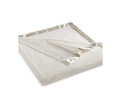 Martha Stewart Easy Care Soft Fleece Blanket (Queen, Ivory White)