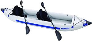 SE385FT_P Sea Eagle Fast Track Inflatable 385ft 12ft 6in 2 Person Kayak Pro Package