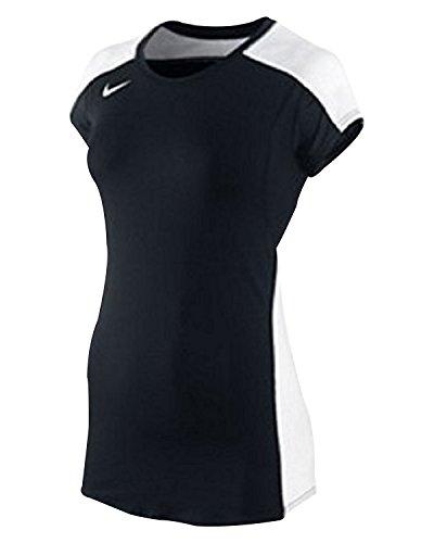 Nike Women's 20/20 Cap Sleeve Volleyball Jersey (Small, Black/White) Nike Jersey Cap