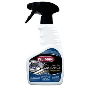 Weiman 12Oz Heavy Duty Gas Range Degreaser (Kosher For Passover) 3-Pack Gas Grate Cleaner