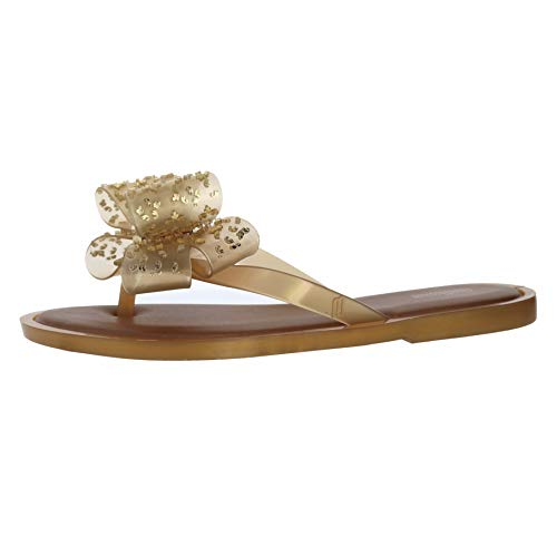 - Melissa Flip Flop Sweet White Gold Womens Thong Size 7M