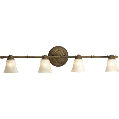 Progress Lighting P3858-86WB 4-Light Wall Or Ceiling Mount Directional Light, Burnished Chestnut