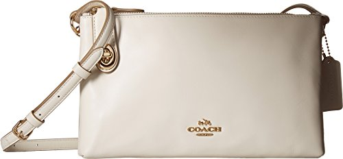 COACH Women's Smooth Calf Leather Crosby Crossbody Li/Chalk One Size by Coach