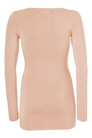 Koral Farbe modström turbo basic shirt damen shirt langarm farbe koralle
