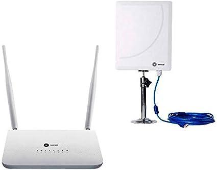 Antena WiFi Wonect W6 (2.4+5Ghz) USB Largo Alcance Cable Exterior Longitud (R7 + 10 Metros)
