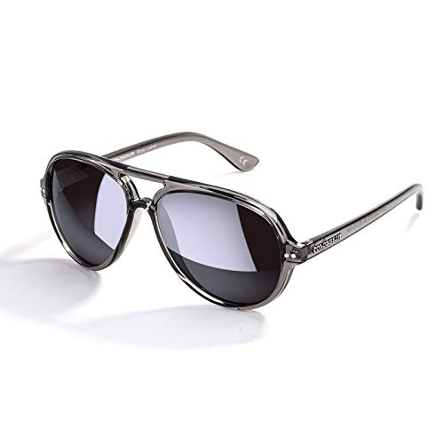 Womens Retro Polarized Sunglasses, Mirrored Lens Fashion Goggle Eyewear(Grey Lens/Grey Frame)