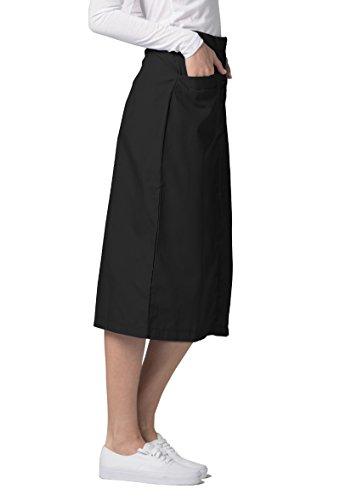 3df834ea57a1 Adar Universal Mid-Calf Length Angle Pocket Skirt - 706 - Black - Size 6