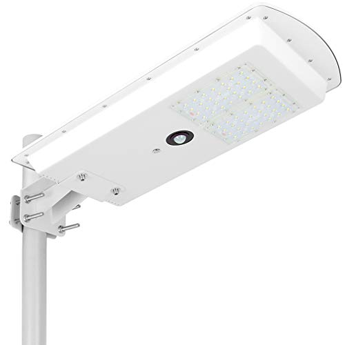 Area Light Security (LED Solar Street Lights Outdoor Dusk to Dawn Wall Garden 30W, All in One Solar Powered Street Light Commercial with Motion Sensor, Security Lamp Area Lighting Super Bright Waterproof IP65 Wireless)