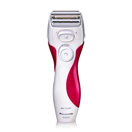 (Panasonic Electric Shaver for Women, ES2207P, Close Curves Electronic Shaver, 3-Blade Cordless Electric Razor and Pop-Up Trimmer, Wet or Dry Shaver Operation)