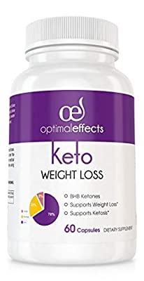 Keto Diet Capsules – Exogenous Ketosis Supplement – BHB Ketones Pills for Ketosis, Beta-Hydroxybutyrates Complex + Caffeine – Improves Energy, Focus & Weight Loss - Burn Fat Not Carbs - 60 Capsules