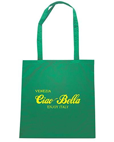 BLUE Shopper OLDENG00829 VENEZIA Borsa BELLA CIAO Verde POHn6vzY