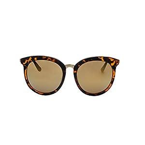 GAMT Round Sunglasses Large Frame Sunglasses Oversize Eyewear for Women Retro Tide (Brown, 60)