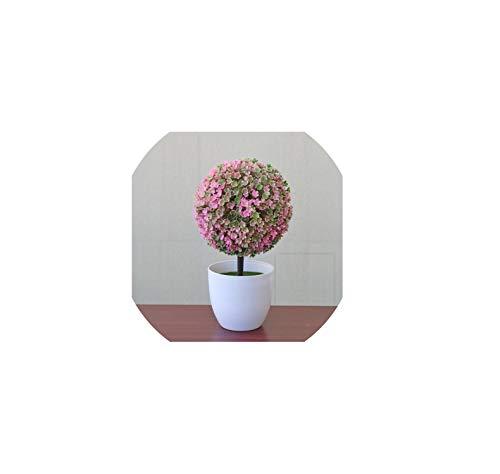 Artificial Plants Bonsai Plastic Simulation Tree Desktop Pot Decorative Fake Flowers Leaves Garden Plant Home Office Hotel,Pink (The Best Exotic Marigold Hotel 2019)