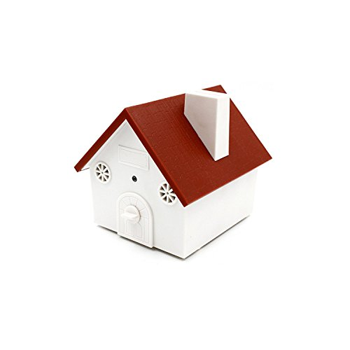 BIG DEAL Ultrasonic Outdoor Dog Bark Controller Sonic Bark Deterrent in Newest Birdhouse Shape, No Harm To Dog or other Pets, Plant, Human, Easy Hanging/Mounting On Tree, Wall, Or Fence Post (Red) (Birdhouse Dog White)