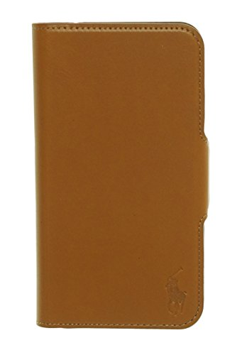 Price comparison product image Polo Ralph Lauren Samsung Galaxy S5 Leather Hardshell Cell Phone Case Brown O/S