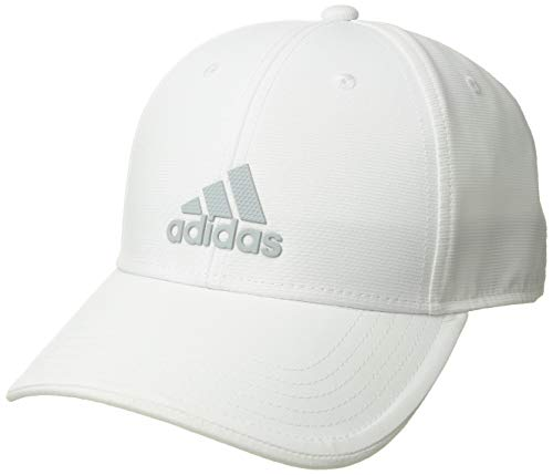 adidas Men's Decision Structured Adjustable Cap, White/Clear Grey, One Size
