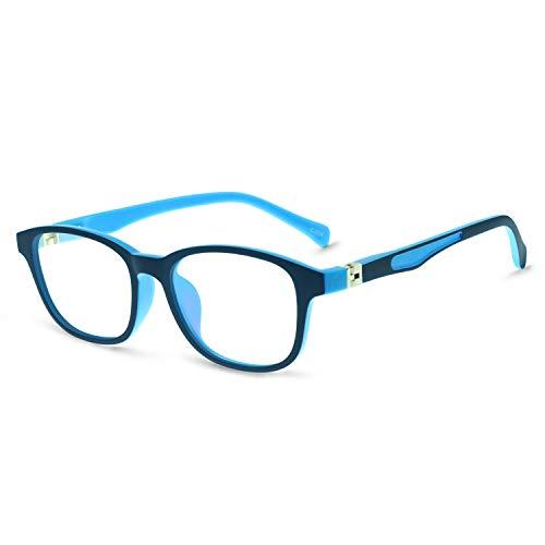 OCCICHIARIKidsCuteLightweightOvalPlasticEyewearFrameClearLensAge3-10 (blue/sky)