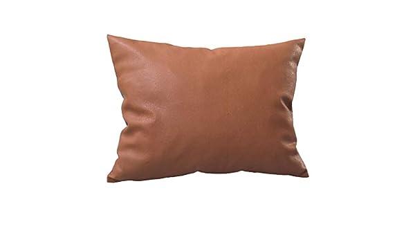 Watopi - Funda de cojín de Piel sintética, Color marrón ...