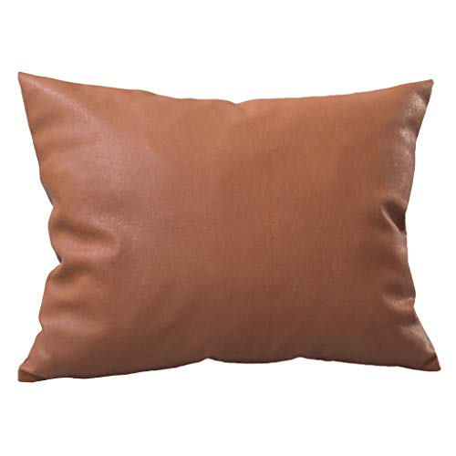 Euone ♛ Pillow Case, Home Decor Solid Color Faux Leather Cushion Covers Throw Pillowcase Sofa 120x30 (A)
