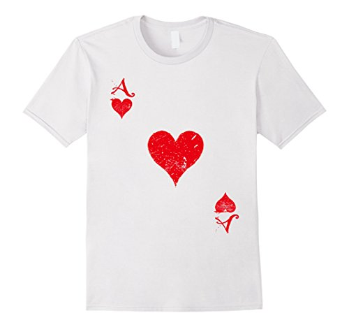 Mens Ace Hearts T-Shirt - Ace Of Hearts Costume XL (Wonderland Card Guard Costumes)