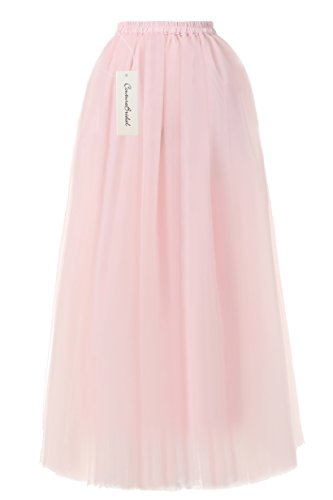 CoutureBridal Tutu 6 Longue Femme Champagne Couches Jupe 110cm Tulle Elastic Ceinture Princesse rUFnxZr
