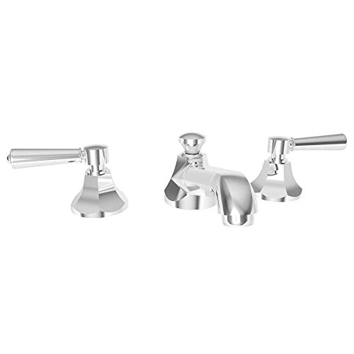 Newport Brass 1200/26 1200 Widespread Bathroom Faucet - Free Pop-Up Drain Assembly with, Polished Chrome