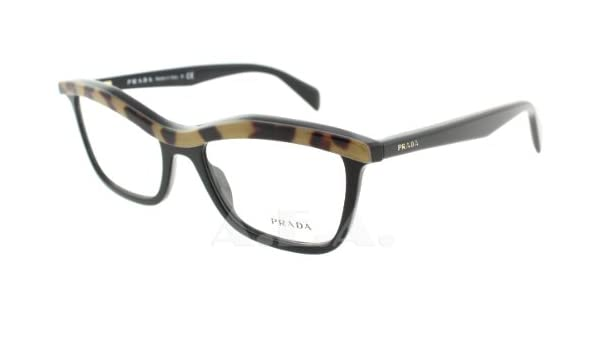 3e059af87be Amazon.com  Prada 17Pv Black Leopard Frame Clear Lens 52Mm  Shoes