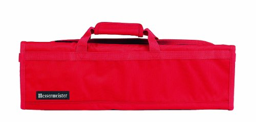 Messermeister 8-Pocket Padded Knife Roll, Red ()