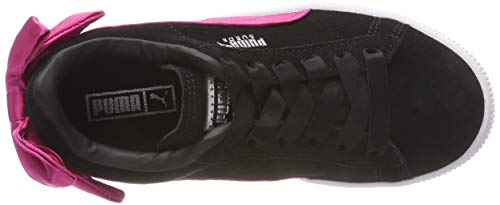 PS Puma Black Bow AC Puma beetroot Purple Basses Fille Noir 04 Sneakers Suede qq64Znwt