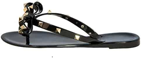 75d97719a Studded Bow Jelly Thong Sandals Valencia-Valentino Rock St Women s Rockstud  Flip Flop