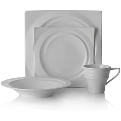 Click for Mikasa Cyclone White 4-Piece Place Setting