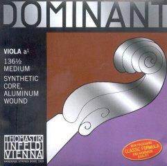 Thomastik-Infeld 136.12 Dominant Viola String, Single A String, 136.12, 1/2 Size, Medium Tension, Aluminum (Dominant Viola A String)