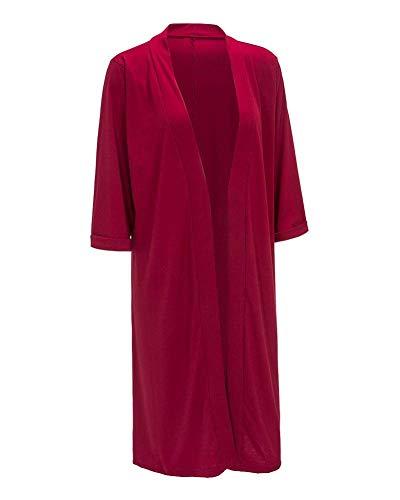 Blouson Rouge De Mode Veste Elgante Manteau Femme Manches en Tricot Vtements Laine Winered Large Fashion Hiver 3 Longues Automne Outerwear Unicolore Automne 4 Cardigan B5CzCfqxw