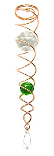 Crystal Twister Gazing Ball Spiral Tail Cyclone Illusion Wind Spinner Stabilizing Accessory (14