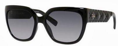 Dior Lunettes de soleil My Dior 3N / Timeless Cannage Pour Femme Shiny Black / Grey Gradient D28/HD: Shiny Black