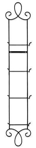 4 - Plate Vertical Metal Scroll Plate Rack