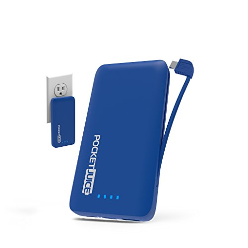 Tzumi PocketJuice Endurance AC - Mini Portable Smart Device Battery Pack Charger - 4,000 mAh High-Speed Single USB Port - Works With All iPhone And Android Devices & Includes Micro USB Cable - Blue by Tzumi