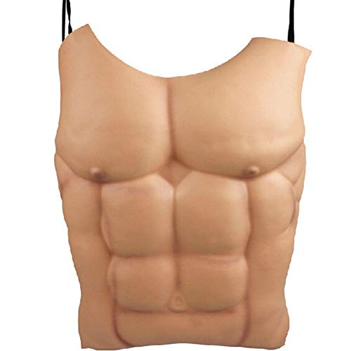 Jesdo Fake Muscle Halloween Costume Funny Chest Chritmas Props Cosplay Makeup (Skin Color)]()