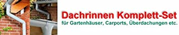 Grau Dachrinne KASTENFORM Rinnensatz Regenrinne 1x600cm Komplett-Set mit w/ählbaren Farben