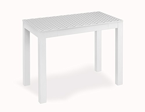 Altra Parsons Desk with Drawer, White/Gray - Small Cheap Computer Desk