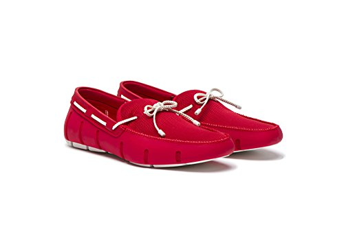 Braided White Loafers Lace Red SWIMS Men's 6ngqUCwPOx